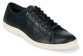 John Varvatos Round Toe Leather Sneakers