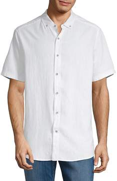 Report Collection Men's Linen Blend Sport Shirt