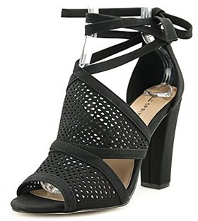 Call it SPRING Womens Rounkles Peep Toe Special Occasion Ankle, Black, Size 8.5.