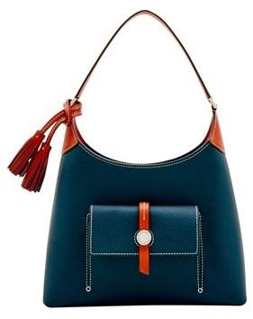 Dooney & Bourke Cambridge Small Hobo Shoulder Bag. - MIDNIGHT BLUE - STYLE