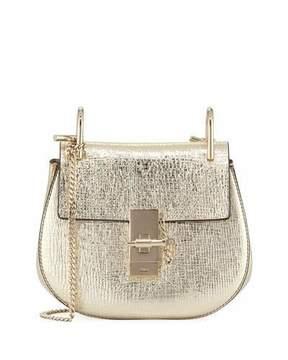 Chloé Drew Mini Metallic Leather Crossbody Bag