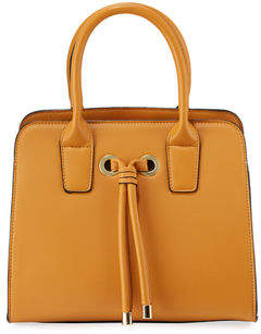 Neiman Marcus Alice Knotted Top-Handle Satchel Bag