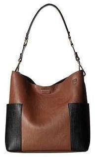 Calvin Klein Women's Unlined Pebble PVC Hobo Luggage/Black