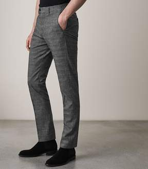 Reiss HAVEN Slim Fit Checked Trousers