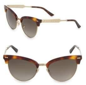 Gucci Havana 55MM Cat's Eye Sunglasses