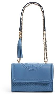 Tory Burch Fleming Convertible Leather Shoulder Bag - Blue
