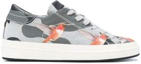 Philippe Model bird motif sneakers
