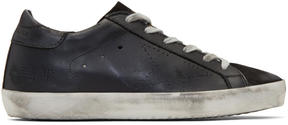 Golden Goose Deluxe Brand Black Perforated Superstar Sneakers