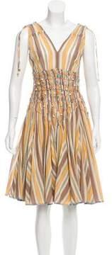 Matthew Williamson Stripe A-Line Dress