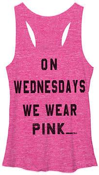 Fifth Sun Heather Pink Mean Girls 'We Wear Pink' Racerback Tank - Juniors