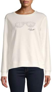 Karl Lagerfeld Paris Women's Sunglasses Crewneck Sweater