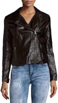 C&C California Women's Faux Leather Moto Jacket