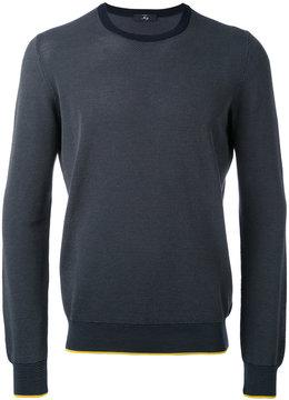 Fay spot knit crew neck sweater