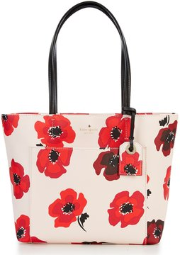 Kate Spade Hyde Lane Small Riley Poppies Tote - ROSE DEW/MULTI - STYLE