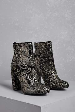 FOREVER 21 Baroque Sequin Ankle Boots