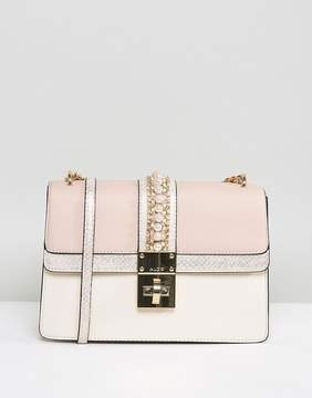 Aldo X Body Bag in Nude with Pearl Embellishment