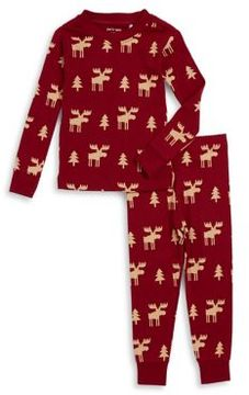 Petit Lem Little Boy's and Boy's Two-Piece Graphic Cotton Tee and Pants Pajama Set