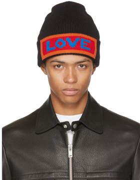 Fendi Black Love Beanie