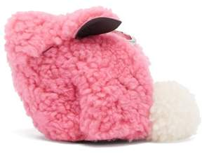 Loewe Bunny Shearling Coin Purse - Womens - Pink