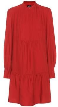 A.P.C. Jones wool and silk-blend dress