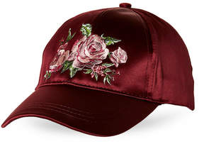 BCBGeneration Roses Satin Baseball Cap