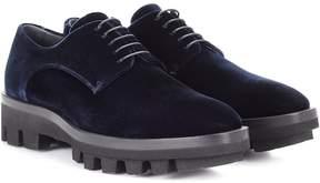 Jil Sander Velvet Derby shoes