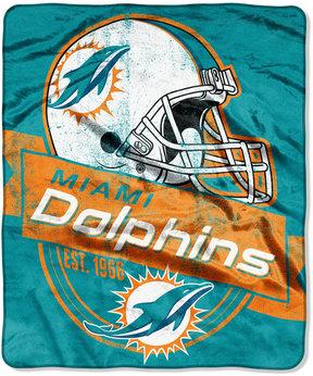 Northwest Company Miami Dolphins Micro Raschel 12th Man Throw Blanket