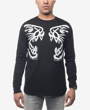 Sean John Men's Panther Face Off Embroidered Graphic-Print T-Shirt, Created for Macy's