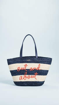 Kate Spade Shore Thing Out & About Straw Tote - MULTI - STYLE
