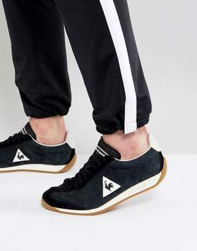 Le Coq Sportif Quartz Perforate Nubuck Sneakers In Black 1720090