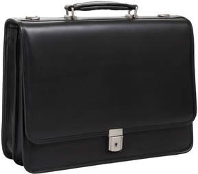 McKlein McKleinUSA Lexington 15.6 Leather Flapover Double Compartment Briefcase