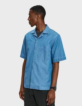 Acne Studios Elm Denim SS Shirt in Light Indigo