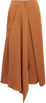 Vanessa Bruno Hilaria Draped Satin Midi Skirt - Copper