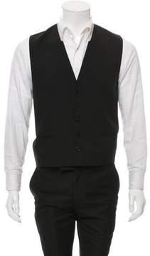 Christian Dior Virgin Wool Shawl Collar Vest