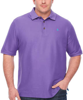 Izod Short Sleeve Natural Stretch Advantage Solid Pique Polo- Big & Tall