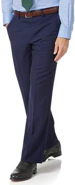 Charles Tyrwhitt Navy Classic Fit Panama Stripe Business Suit Wool Pants Size W34 L32