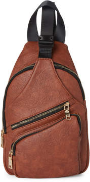 Urban Expressions Cognac Clark Vegan Sling Backpack
