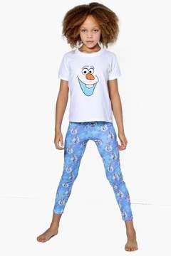 boohoo Girls Disney OLAF Tee + Legging Nightwear Set