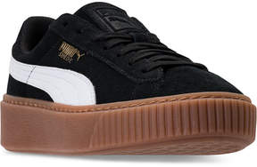 Puma Girls' Suede Platform Casual Sneakers from Finish Line