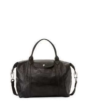 Longchamp Le Pliage Cuir Medium Handbag with Shoulder Strap