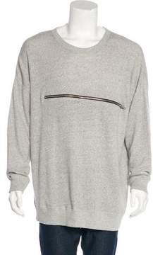 R 13 Zip-Accented Oversize Sweatshirt