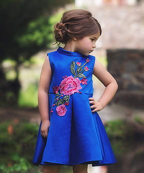 Bardot Royal Dress - Toddler