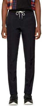 Lanvin Purple Elastic Waistband Trousers