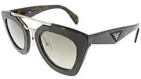 Prada Women's Gradient PR14SS-2AU4M1-49 Black Geometric Sunglasses