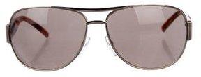 Marc Jacobs Metallic Aviator Sunglasses