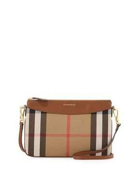 Burberry House Check Crossbody Bag, Tan - TAN - STYLE
