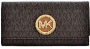 Michael Kors PVC Leather Fulton Flap Continental Wallet - Brown - 32S7GFTE3B-200 - BROWN - STYLE