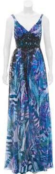 Alberto Makali Embellished Chiffon Dress w/ Tags