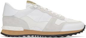 Valentino White Garavani Camo Rockrunner Sneakers