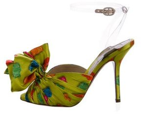 Moschino Gummy Bear Satin Pumps w/ Tags